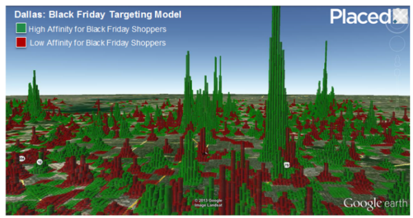 Holiday shopper profile map